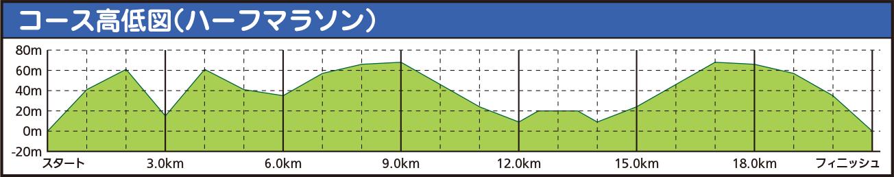 コース高低図(ハーフマラソン)